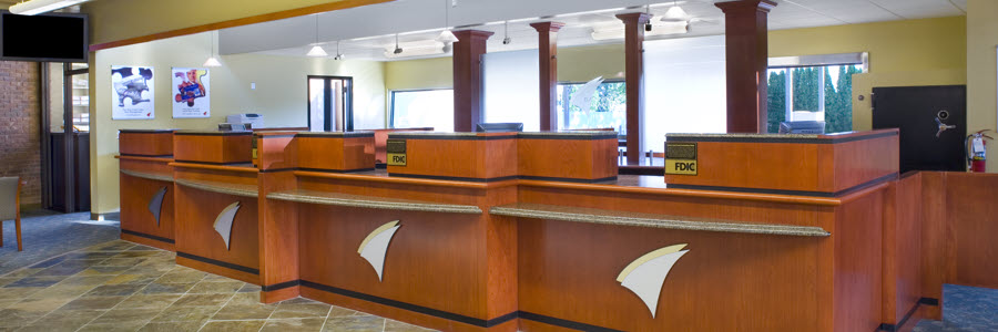 Bank Teller Stations, Transaction Counters, & Cabinetry